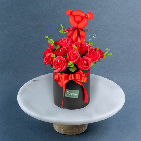 Bearie Balloon Flower Box - Flowers - Bull & Rabbit - - Eat Cake Today - Birthday Cake Delivery - KL/PJ/Malaysia