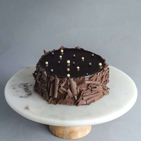 Black & White Cake - Chocolate Cake - Huckleberry Food & Fare - - Eat Cake Today - Birthday Cake Delivery - KL/PJ/Malaysia