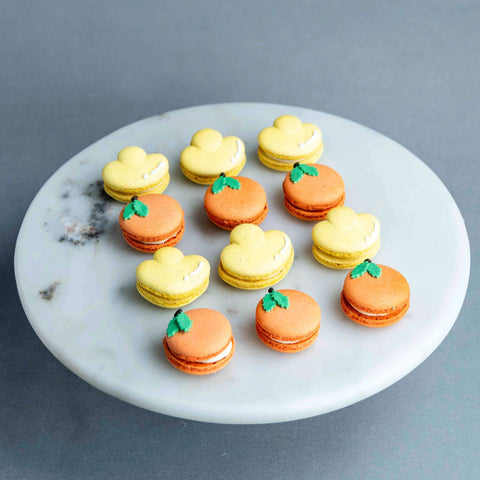 Box of 12 Mandarin and Ingot Macarons - Macarons - Cakes by Maine - - Eat Cake Today - Birthday Cake Delivery - KL/PJ/Malaysia