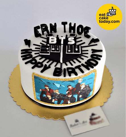 BTS Printed Image Cake 8' (Customized) - Customized Cakes - Baker's Art - - Eat Cake Today - Birthday Cake Delivery - KL/PJ/Malaysia