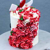 "Candy cane-corn 4"" - Designer Cakes - The Buttercake Factory - - Eat Cake Today - Birthday Cake Delivery - KL/PJ/Malaysia"