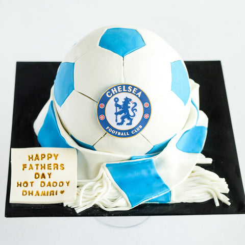"Chelsea Soccer Theme Cake 6"" - Customized Cakes - Cakes by Maine - - Eat Cake Today - Birthday Cake Delivery - KL/PJ/Malaysia"