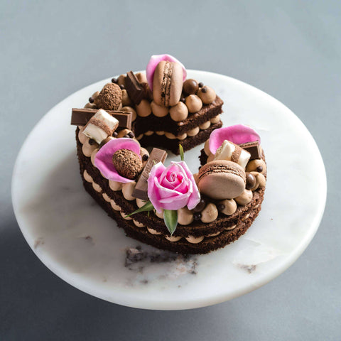 Chocolate Monogram Cake - Designer Cake - Baker's Art - - Eat Cake Today - Birthday Cake Delivery - KL/PJ/Malaysia