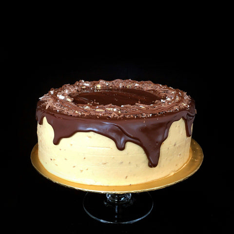 "Chocolate Peanut Butter Cake 9"" - Chocolate Cake - Gula Cakery - - Eat Cake Today - Birthday Cake Delivery - KL/PJ/Malaysia"