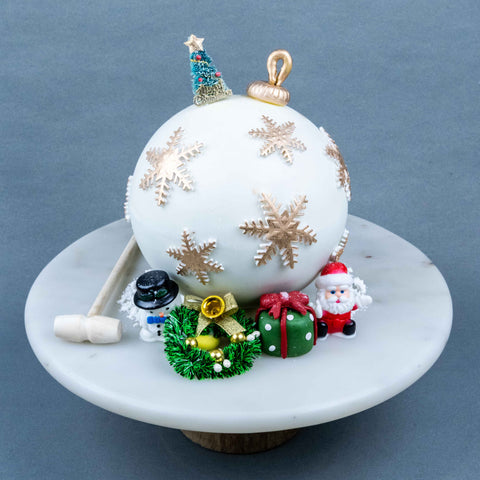 "Christmas Bauble Pinata Cake 6"" - Designer Cakes - The Buttercake Factory - - Eat Cake Today - Birthday Cake Delivery - KL/PJ/Malaysia"