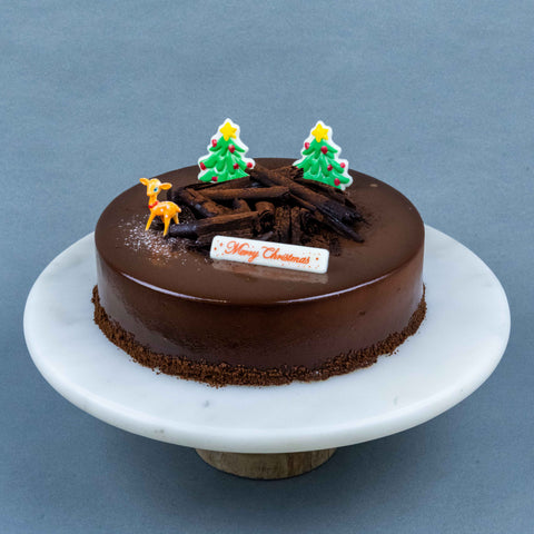 "Christmas Chocolate Lemon Cake 8"" - Sponge Cakes - Lavish Patisserie - - Eat Cake Today - Birthday Cake Delivery - KL/PJ/Malaysia"