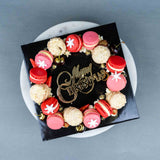 Christmas Macarons Wreath - Macarons - Ennoble by Elevete - - Eat Cake Today - Birthday Cake Delivery - KL/PJ/Malaysia