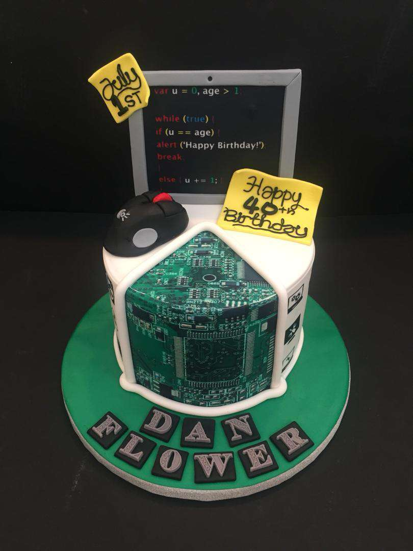 Brilliant Computer Geek Cake 6 Inch Funny Birthday Cards Online Barepcheapnameinfo