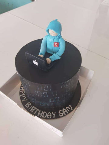 Customize Computer Geek cake 6 inch - - Kak Sal Kueh - - Eat Cake Today - Birthday Cake Delivery - KL/PJ/Malaysia