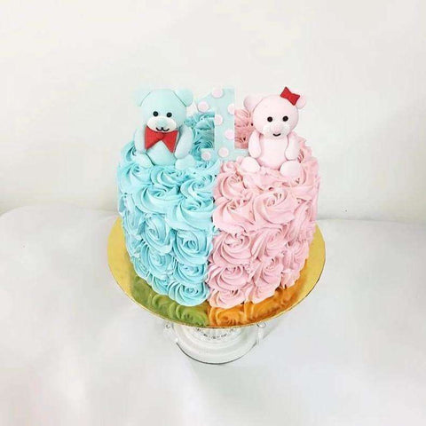 Customize twin 1st birthday cake 8 inch - Customized Cakes - Kak Sal Kueh - - Eat Cake Today - Birthday Cake Delivery - KL/PJ/Malaysia