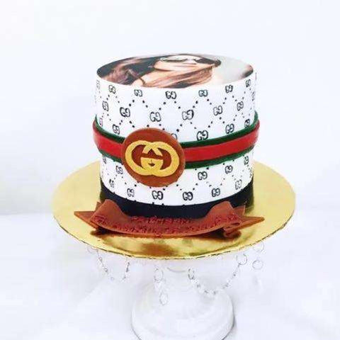 Customized Gucci cake with edible picture - 6inch - - Kak Sal Kueh - - Eat Cake Today - Birthday Cake Delivery - KL/PJ/Malaysia