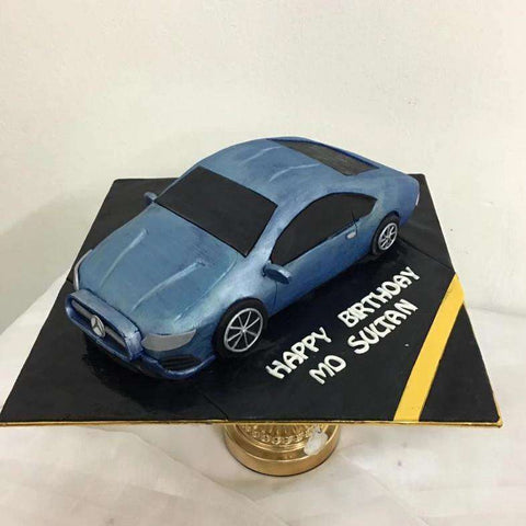 customized merz E350 blue colour - - Baker's Art - - Eat Cake Today - Birthday Cake Delivery - KL/PJ/Malaysia