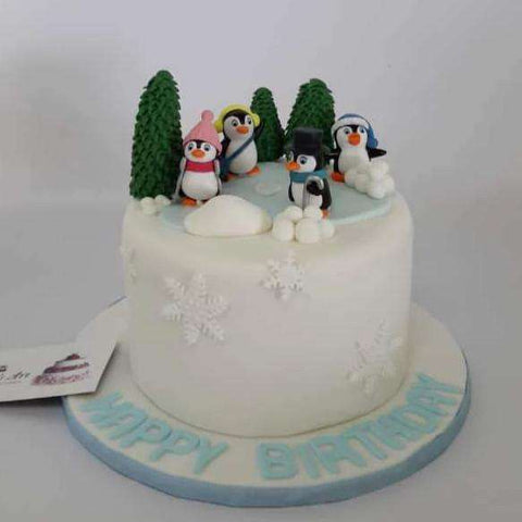 Customized penguin cake - - Baker's Art - - Eat Cake Today - Birthday Cake Delivery - KL/PJ/Malaysia