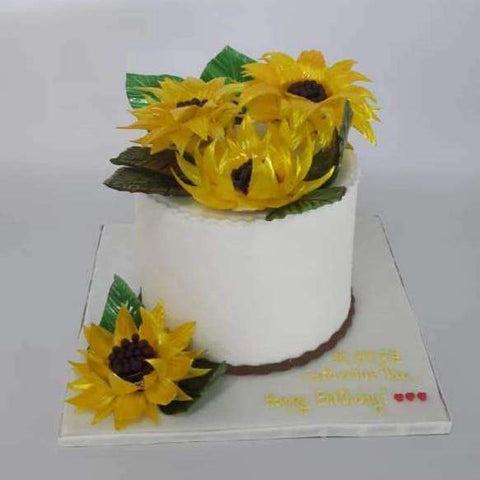Customized sunflower cake - - Baker's Art - - Eat Cake Today - Birthday Cake Delivery - KL/PJ/Malaysia