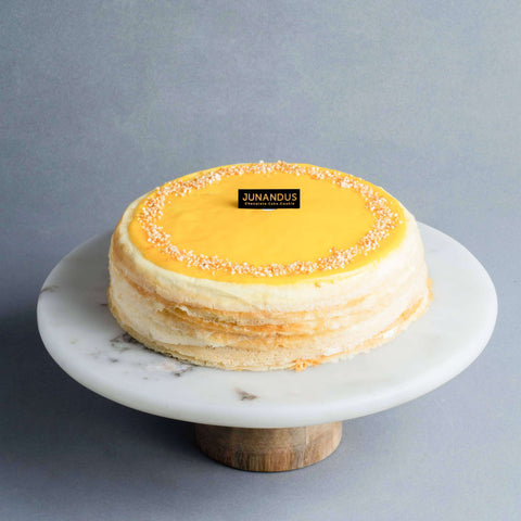 "D24 Durian Mille Crepe 8"" - Mille Crepe - Junandus - - - - Eat Cake Today - Birthday Cake Delivery - KL/PJ/Malaysia"