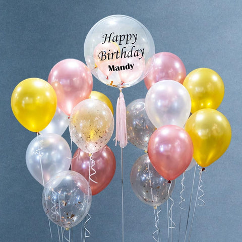 Deluxe Helium Bubble Balloon Bouquet - Balloons - Happy Balloon Shop - - Eat Cake Today - Birthday Cake Delivery - KL/PJ/Malaysia