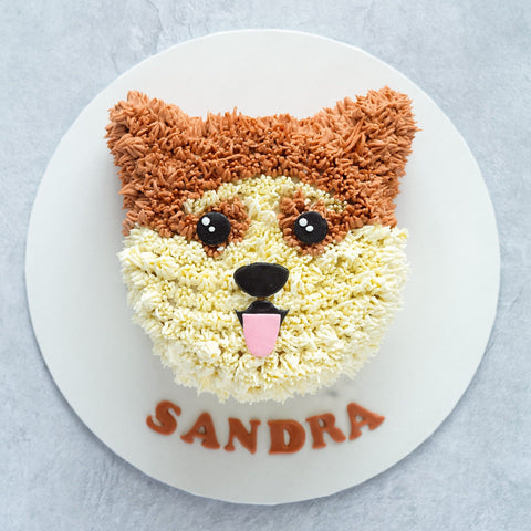 "Dog Cake 5"" - Customized Cakes - Cakes by Maine - - Eat Cake Today - Birthday Cake Delivery - KL/PJ/Malaysia"
