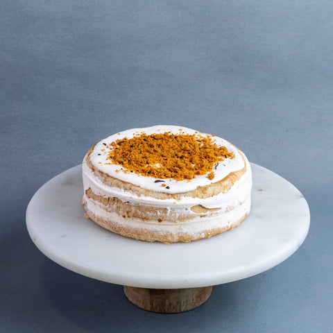 "Earl Grey Lotus Biscoff Cake 7"" - Sponge Cake - Re Birth - - Eat Cake Today - Birthday Cake Delivery - KL/PJ/Malaysia"