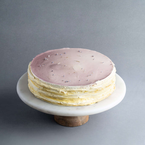 "Earl Grey Tea Lavender Mille Crepe 9"" - Mille Crepe - Food Foundry - - Eat Cake Today - Birthday Cake Delivery - KL/PJ/Malaysia"