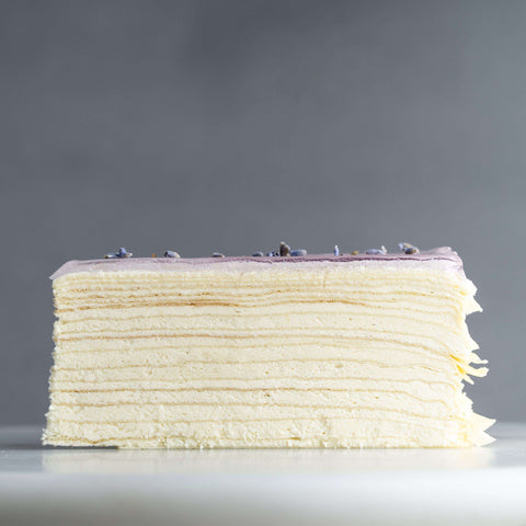 "Earl Grey Tea Lavender Mille Crepe 9"" - Mille Crepe - Food Foundry - - - - Eat Cake Today - Birthday Cake Delivery - KL/PJ/Malaysia"