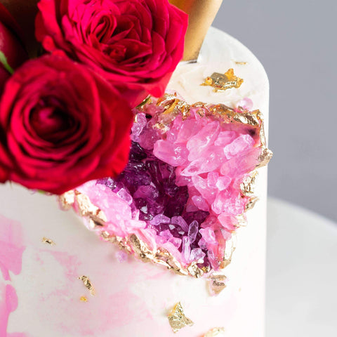 "Edible Geode Cake 5"" - Designer Cake - D'sabroso - - Eat Cake Today - Birthday Cake Delivery - KL/PJ/Malaysia"