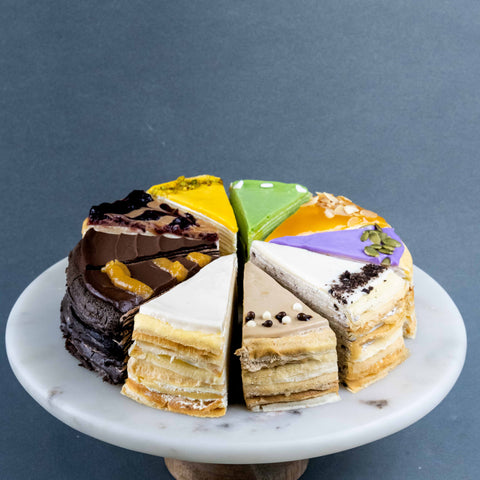 "Fan-Ten-Tic Mille Crepe Cake 8"" - Mille Crepe - Junandus - - Eat Cake Today - Birthday Cake Delivery - KL/PJ/Malaysia"