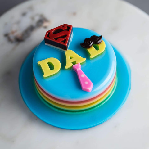 "Father's Day Jelly Cake 4"" - Jelly Cakes - Q Jelly Bakery - - - - Eat Cake Today - Birthday Cake Delivery - KL/PJ/Malaysia"
