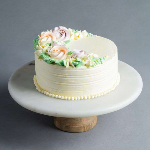 "Flower Buttercream Cake 6"" - Designer Cake - Baker's Art - - - - Eat Cake Today - Birthday Cake Delivery - KL/PJ/Malaysia"