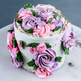 "Flower Garden Cake 4"" - Designer Cake - The Buttercake Factory - - Eat Cake Today - Birthday Cake Delivery - KL/PJ/Malaysia"