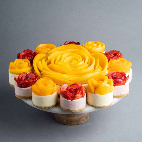 "Flower Power Cheesecake 8"" - Cheesecakes - Purple Monkey - - Eat Cake Today - Birthday Cake Delivery - KL/PJ/Malaysia"
