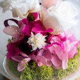 Garden Rose Bell Jar - Flowers - Delicato Dessert - - Eat Cake Today - Birthday Cake Delivery - KL/PJ/Malaysia