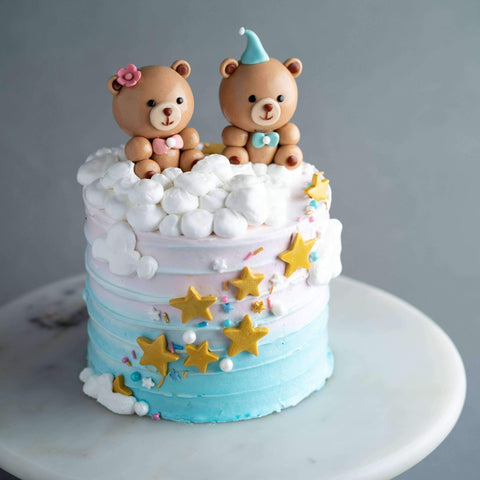 "Gender Reveal Cake 5"" - Designer Cake - Kak Sal Kueh - - - - Eat Cake Today - Birthday Cake Delivery - KL/PJ/Malaysia"