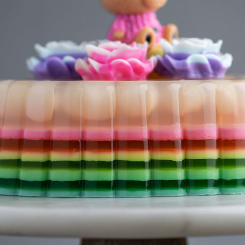Glossy Lychee Jelly Cake - Jelly Cakes - Jerri Home - - - - Eat Cake Today - Birthday Cake Delivery - KL/PJ/Malaysia