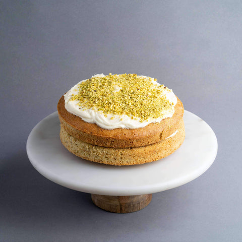 "Gluten Free White Chocolate Pistachio Cake 7.5"" - Healthy Cakes - Baked KL - - - - Eat Cake Today - Birthday Cake Delivery - KL/PJ/Malaysia"