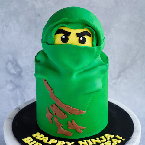 "Green Ninjago Cake 6"" - Customized Cakes - Cakes by Maine - - Eat Cake Today - Birthday Cake Delivery - KL/PJ/Malaysia"