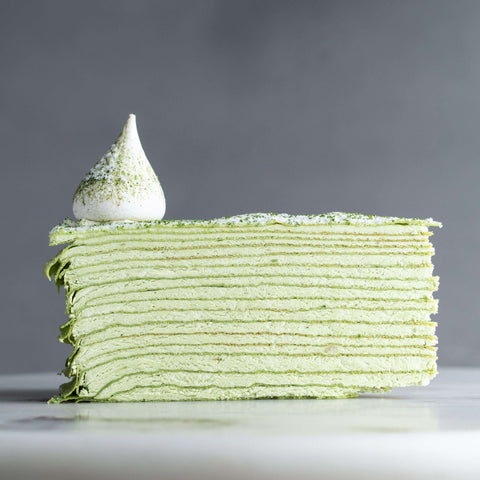 "Green Tea & Green Bean Mille Crepe 9"" - Mille Crepe - Food Foundry - - Eat Cake Today - Birthday Cake Delivery - KL/PJ/Malaysia"