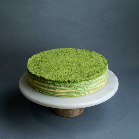 "Green Tea Mille Crepe Cake 9"" - Mille Crepe - Cake Tella - - Eat Cake Today - Birthday Cake Delivery - KL/PJ/Malaysia"