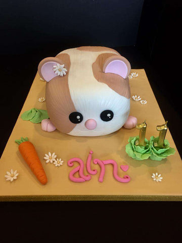 Hamster Cake 6 inch - Customized Cakes - B'Sweetbites - - Eat Cake Today - Birthday Cake Delivery - KL/PJ/Malaysia