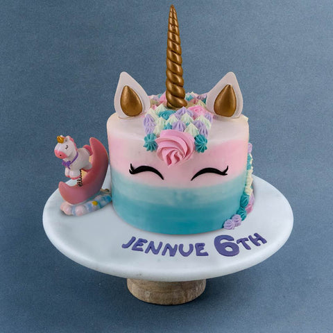 "Heavenly Unicorn Cake 6"" - Sponge Cakes - Sweet Creations - - Eat Cake Today - Birthday Cake Delivery - KL/PJ/Malaysia"
