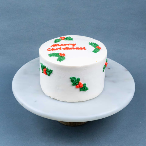 "Joyful Christmas Cake 6"" - Sponge Cakes - Jyu Pastry Art - - Eat Cake Today - Birthday Cake Delivery - KL/PJ/Malaysia"