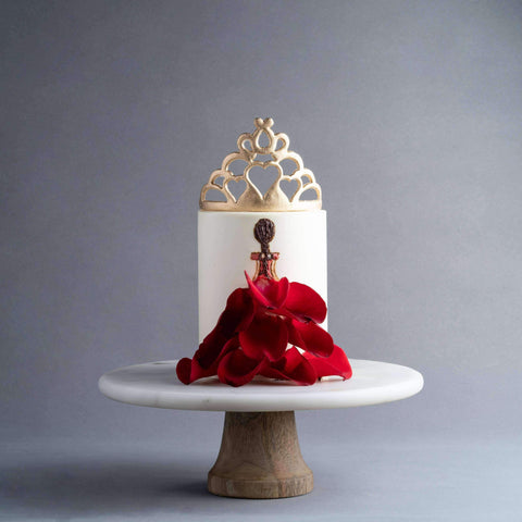"Lady in Rose Petal Dress Cake 5"" - Designer Cake - D'sabroso - - - - Eat Cake Today - Birthday Cake Delivery - KL/PJ/Malaysia"