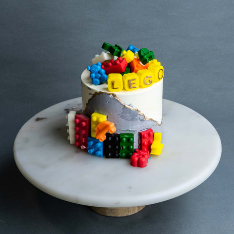 "Lego Lovers Cake 4"" - Designer Cakes - The Buttercake Factory - - Eat Cake Today - Birthday Cake Delivery - KL/PJ/Malaysia"