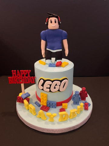 Lego Theme Cake 4.5 inch - Customized Cake - B'Sweetbites - - Eat Cake Today - Birthday Cake Delivery - KL/PJ/Malaysia