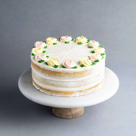 "Lemon Vanilla Naked Cake 9"" - Butter Cake - Food Foundry - - Eat Cake Today - Birthday Cake Delivery - KL/PJ/Malaysia"