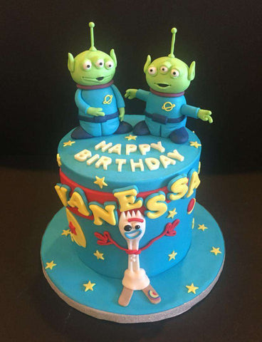 Little Green Men Cake 6 inch - Customized Cakes - B'Sweetbites - - Eat Cake Today - Birthday Cake Delivery - KL/PJ/Malaysia
