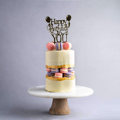 Macarons Fault Line Cake - Designer Cake - Ennoble - - Eat Cake Today - Birthday Cake Delivery - KL/PJ/Malaysia