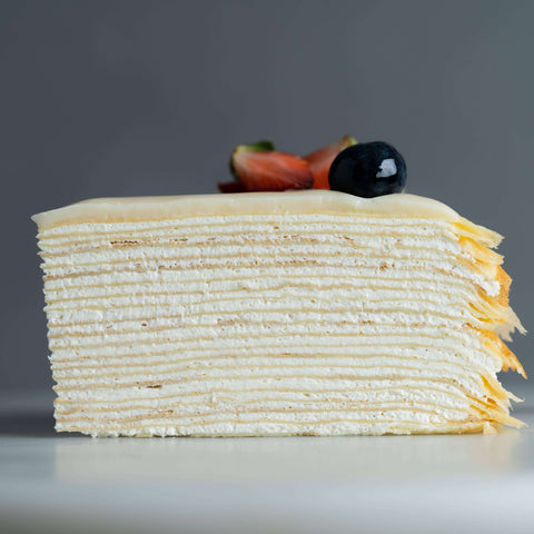"Madagascar Vanilla Mille Crepe 8"" - Mille Crepe - Junandus - - Eat Cake Today - Birthday Cake Delivery - KL/PJ/Malaysia"