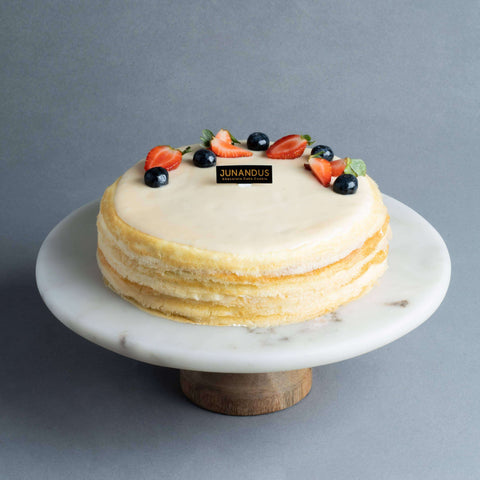 Madagascar Vanilla Mille Crepe 8 inch - Mille Crepe - Junandus - - - - Eat Cake Today - Birthday Cake Delivery - KL/PJ/Malaysia