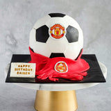 "Manchester United Soccer Cake 6"" - Customized Cakes - Cakes by Maine - - Eat Cake Today - Birthday Cake Delivery - KL/PJ/Malaysia"