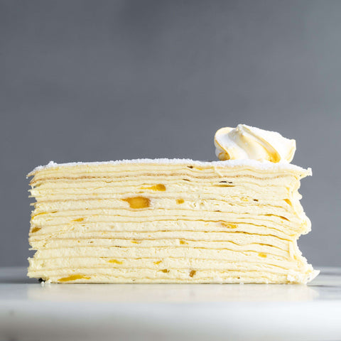 "Mango Mille Crepe 9"" - Mille Crepe - Food Foundry - - - - Eat Cake Today - Birthday Cake Delivery - KL/PJ/Malaysia"